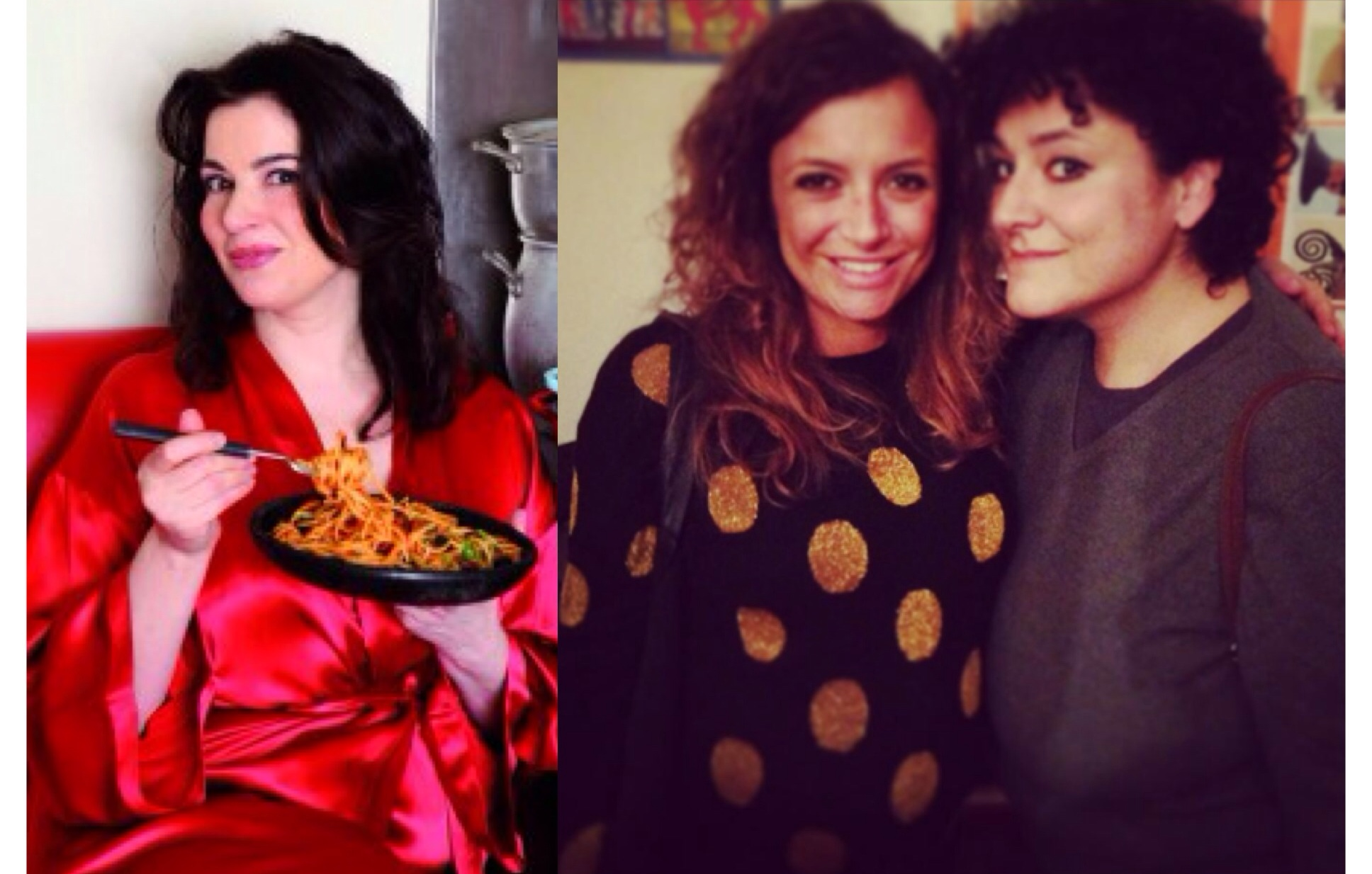 Me between my 2 favourite tv chefs Nigella Lawson and Mariatolmina Ciriello