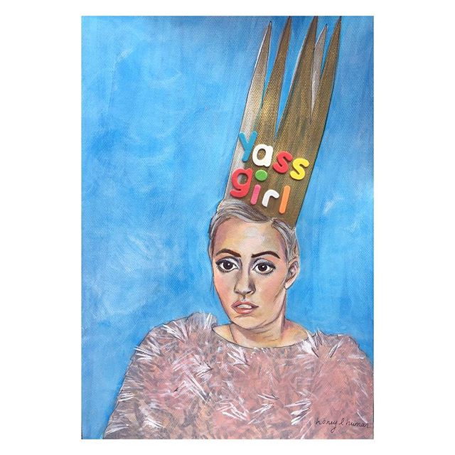 Dear @lenadunham I adore you so much I painted you wearing a big ass crown. Yassss girl. #lenadunham