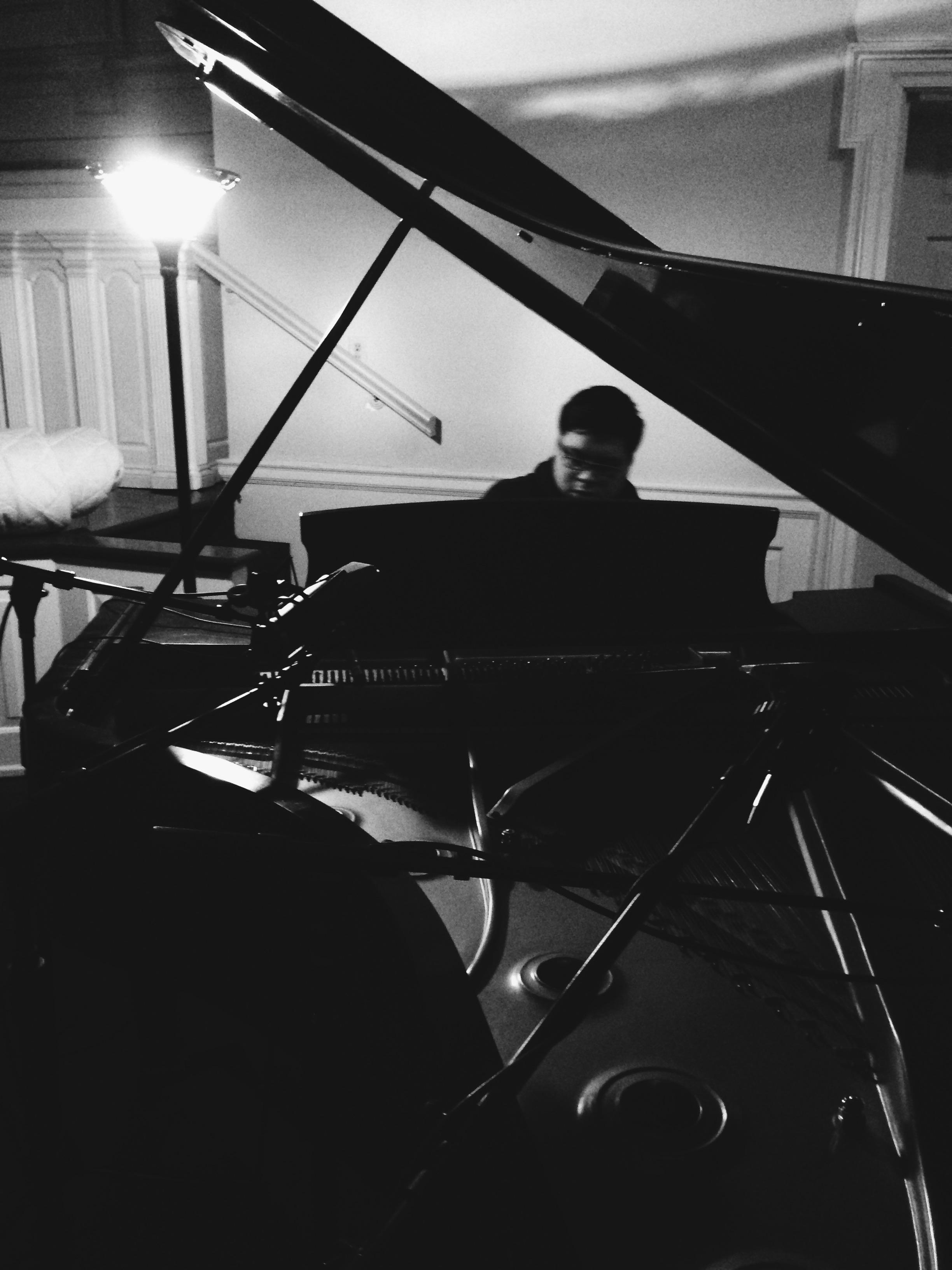 Jonny records piano