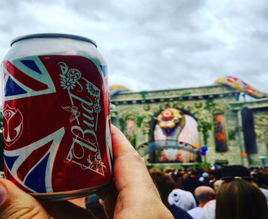 Tonejet Direct to Can Digital Printing for Budweiser at Tomorrowland Festival