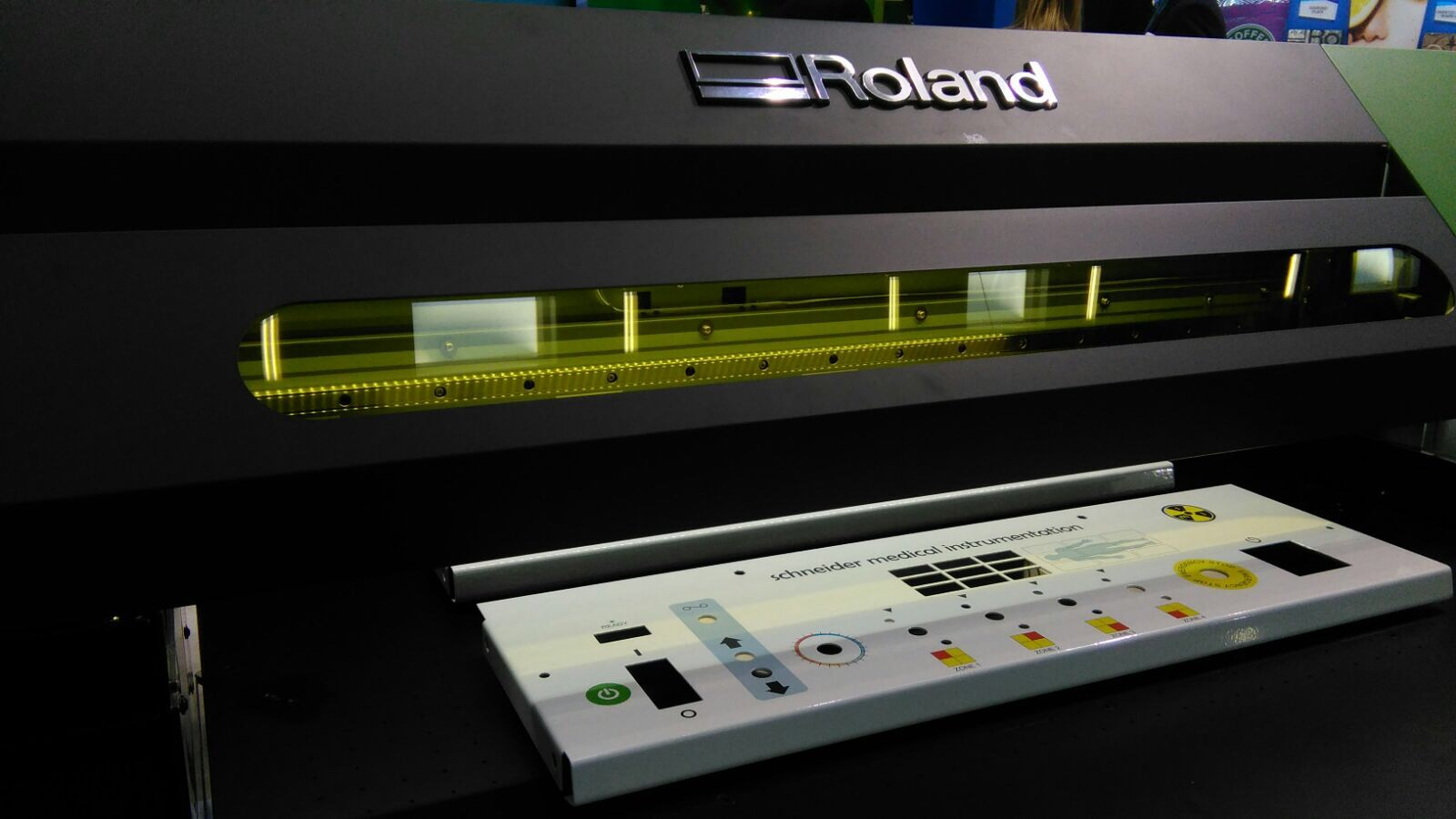 The VersaUV S-Series printing control panels at InPrint Munich