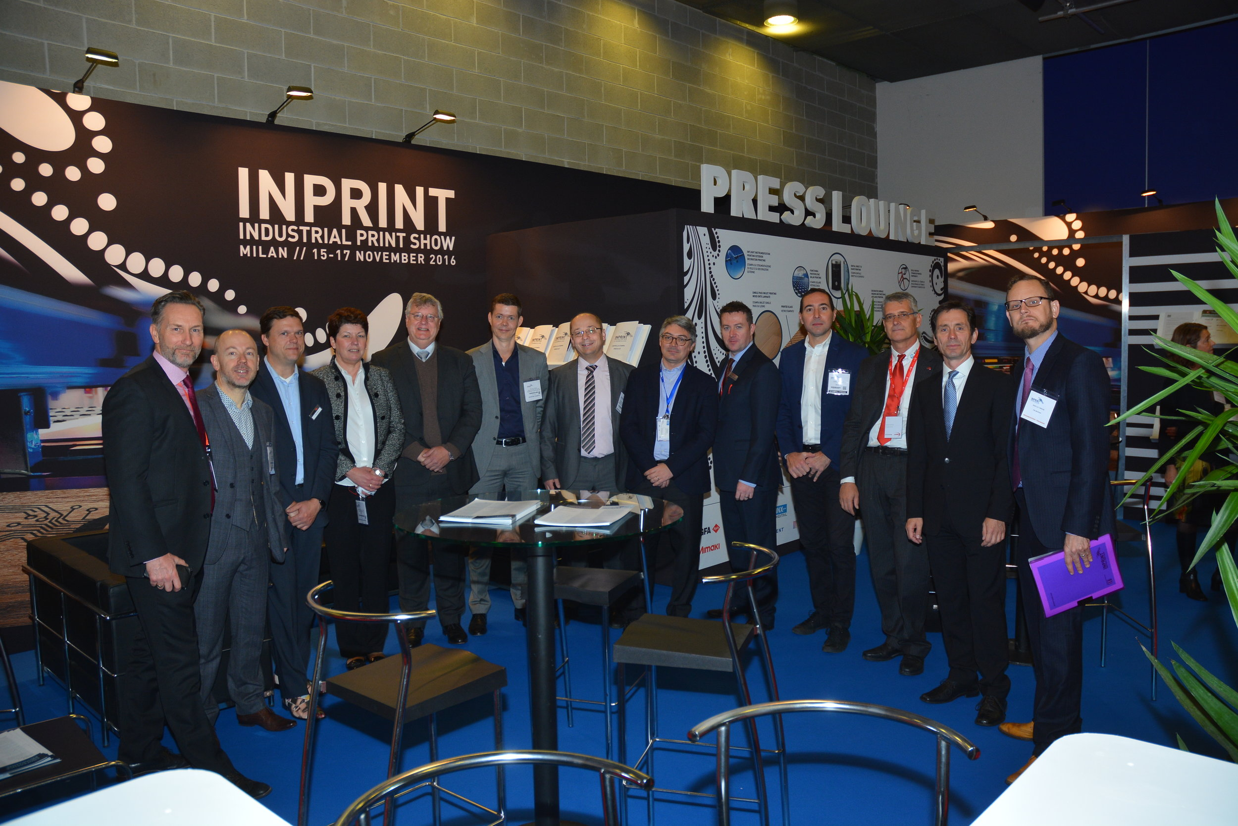 Press lounge and Conference backdrop produced by Insite