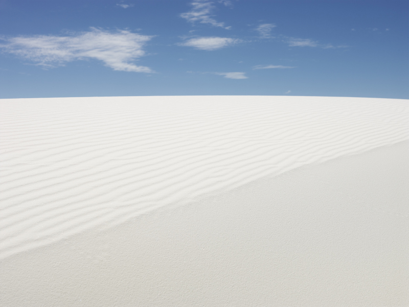JOSEF HOFLEHNER  WHITE SANDS, STUDY 1, NEW MEXICO  ARCHIVAL PIGMENT PRINT  ED.: 5  162 x 210 CM / 63 3/4 x 82 2/3 IN