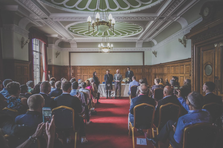 Ceremony at Islington Town Hall