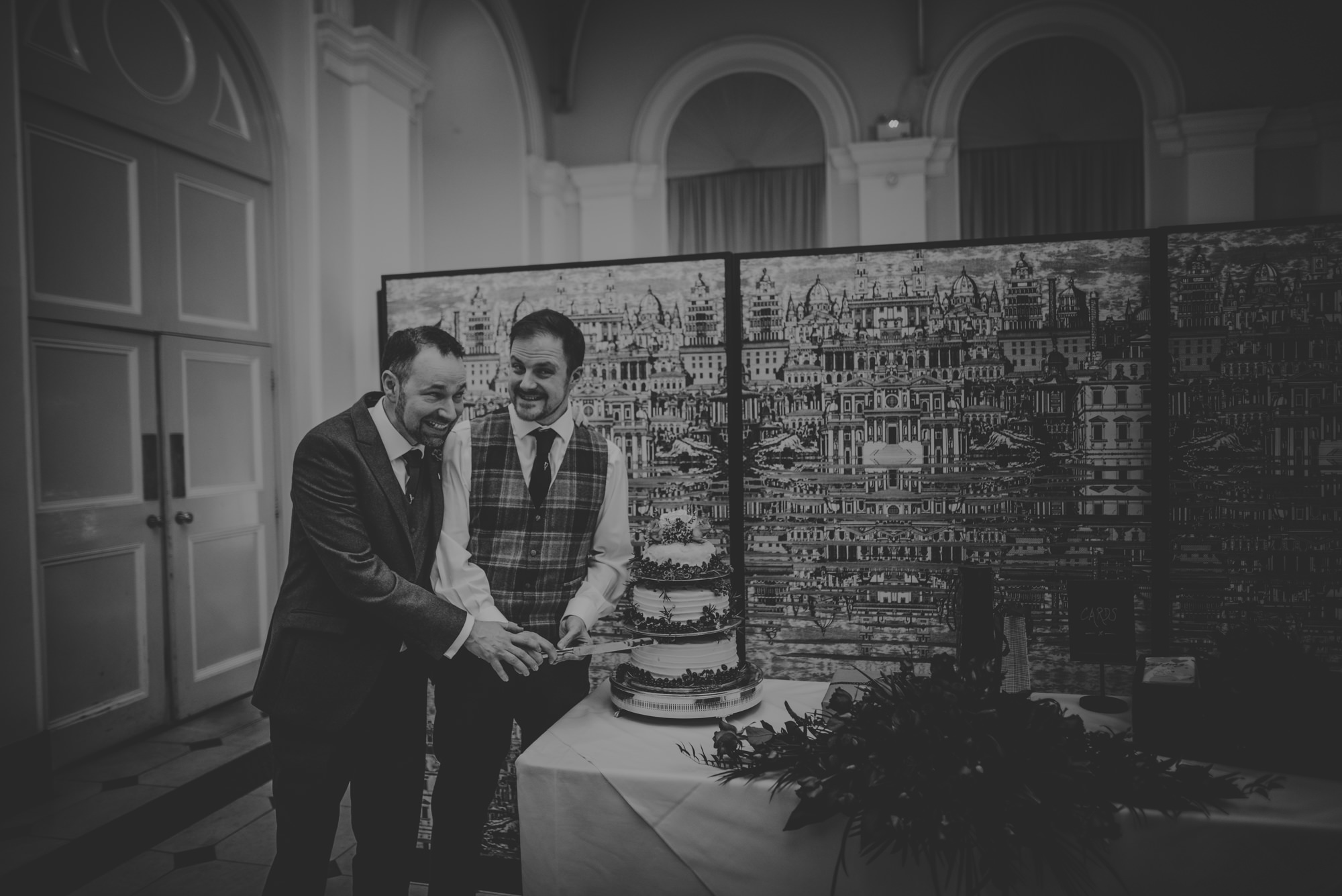 Gay Couple getting married at Blenheim palace