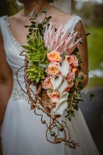Photo of one of the bouquets designed by Owen Lavin, owner of Little Lillies