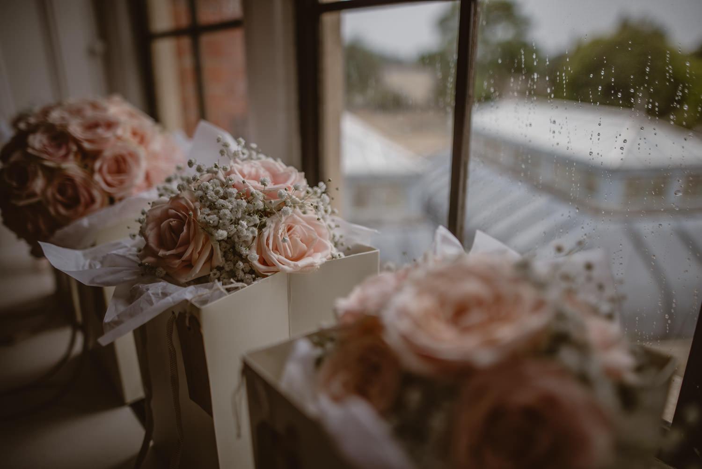 Close up of wedding flowers in The Elvetham, Fleet, Hampshire