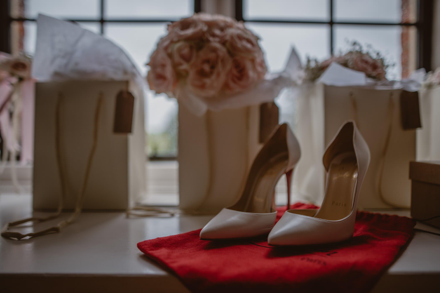 Wedding Christian Louboutin Shoes in The Elvetham Hotel, Hampshire