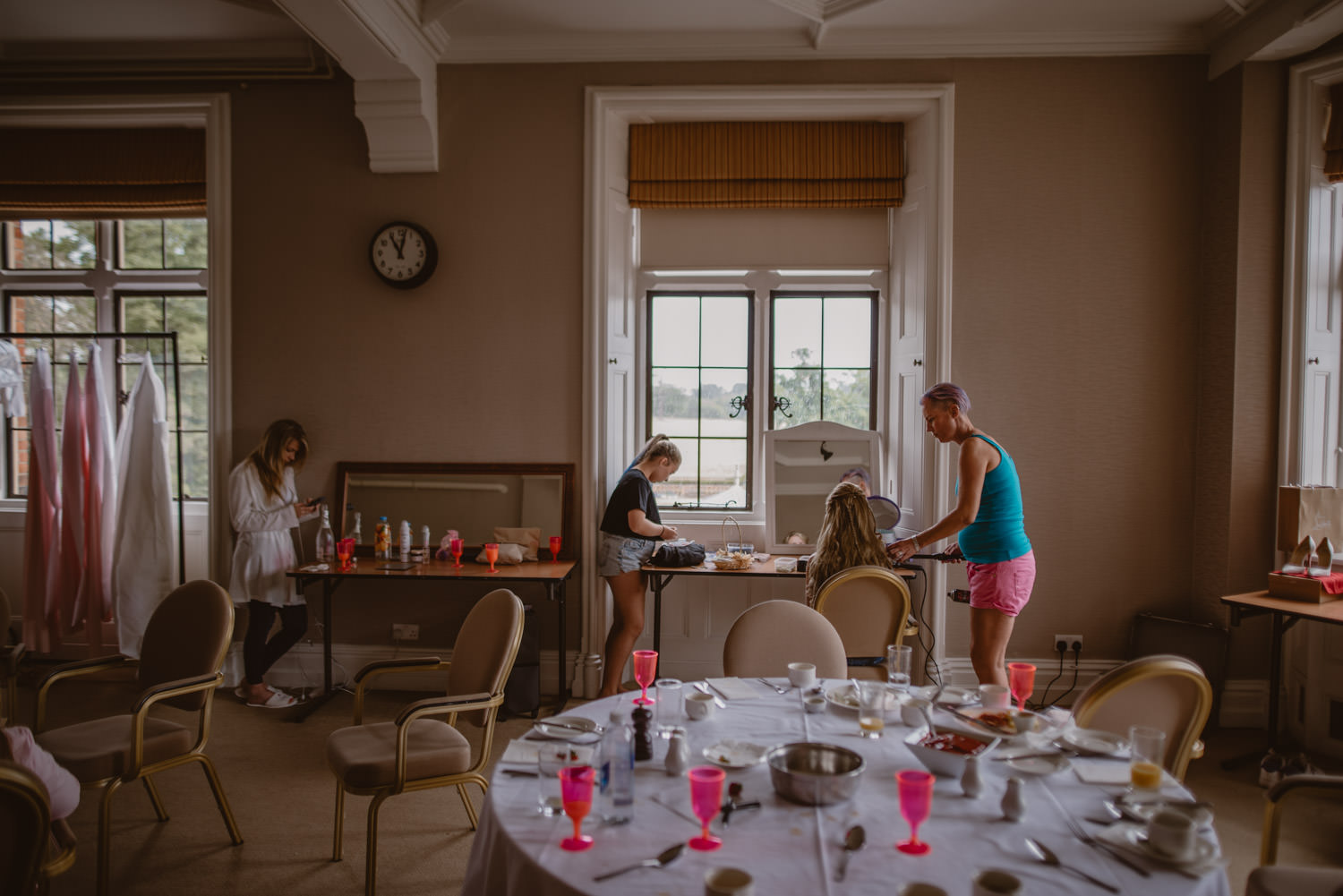Getting Ready at The Elvetham Hotel, Hampshire