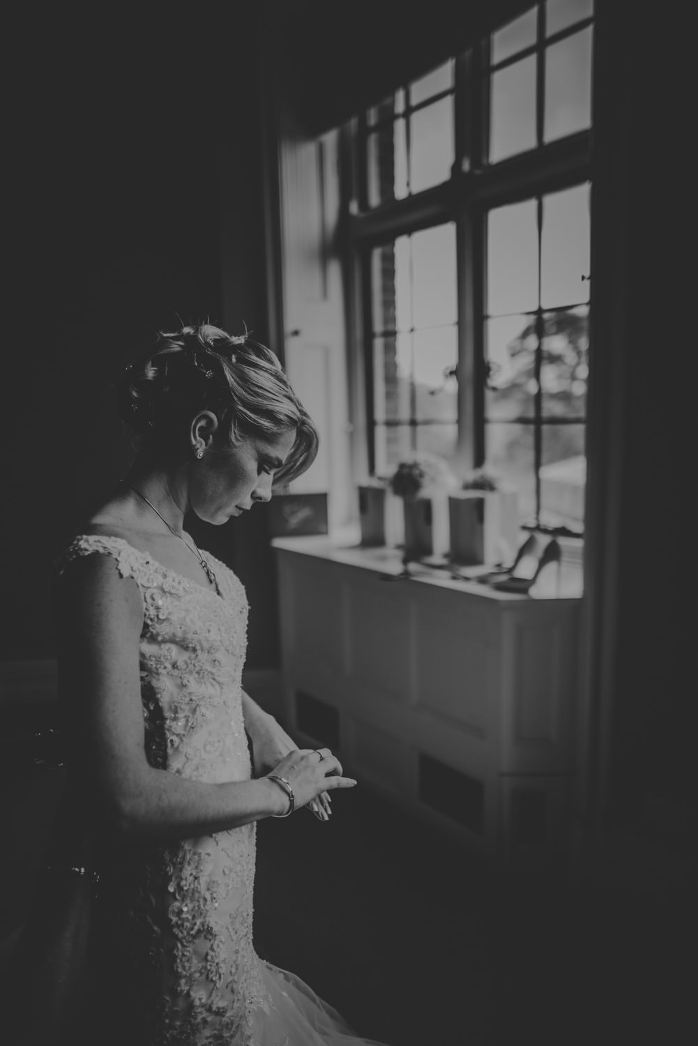 Wedding Photos of the getting ready at The Elvetham Hotel