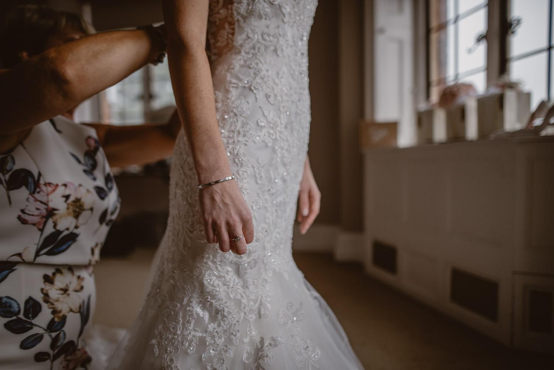 Wedding dress at The Elvetham Hotel