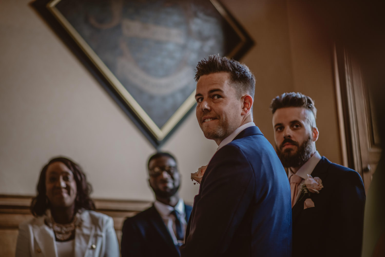 Wedding Photos of the groom at The Elvetham Hotel