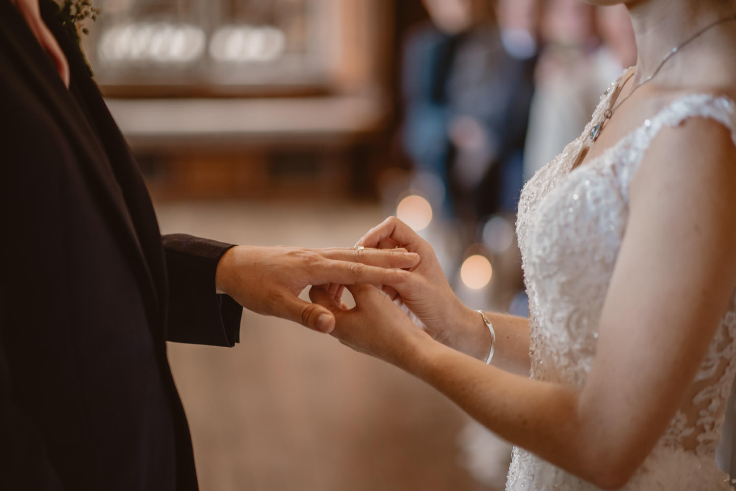 Wedding Ceremony and Rings Exchange at The Elvetham Hotel