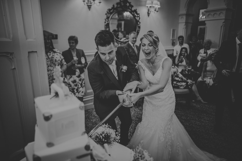 Wedding Cake Cutting at The Elvetham Hotel