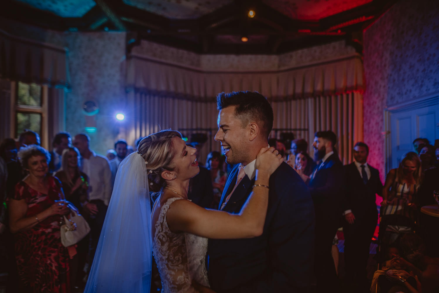 First Dance Wedding Picture at The Elvetham Hotel