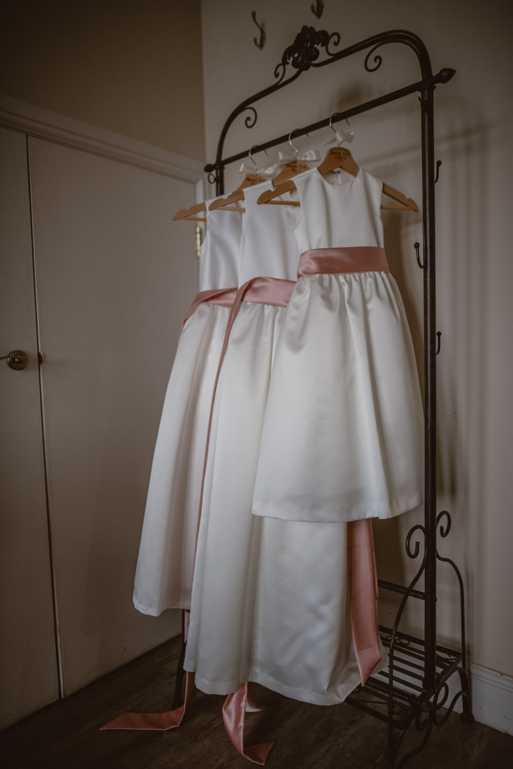 Flower Girls Pink and Ivory Dress
