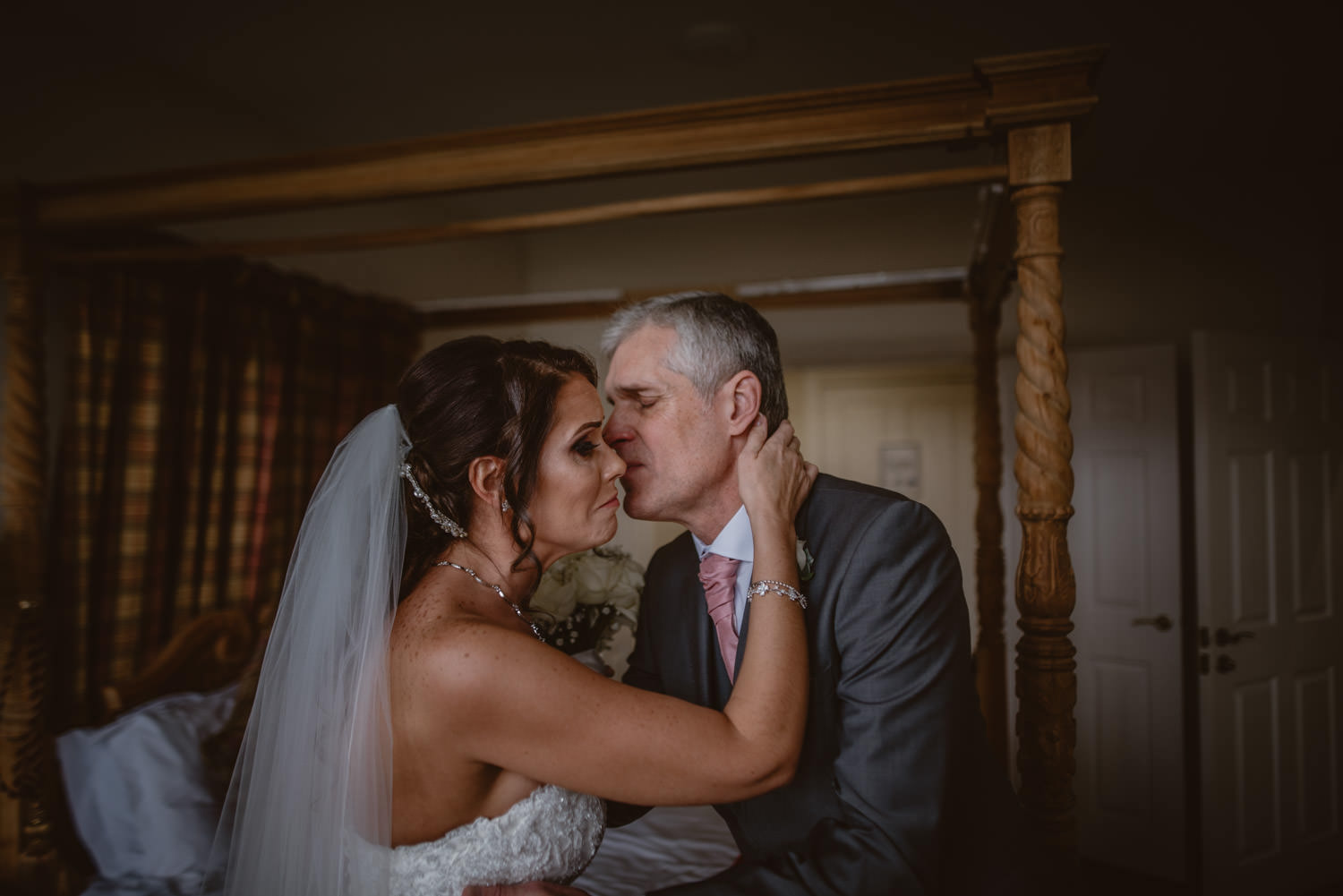 Bride and his father photo
