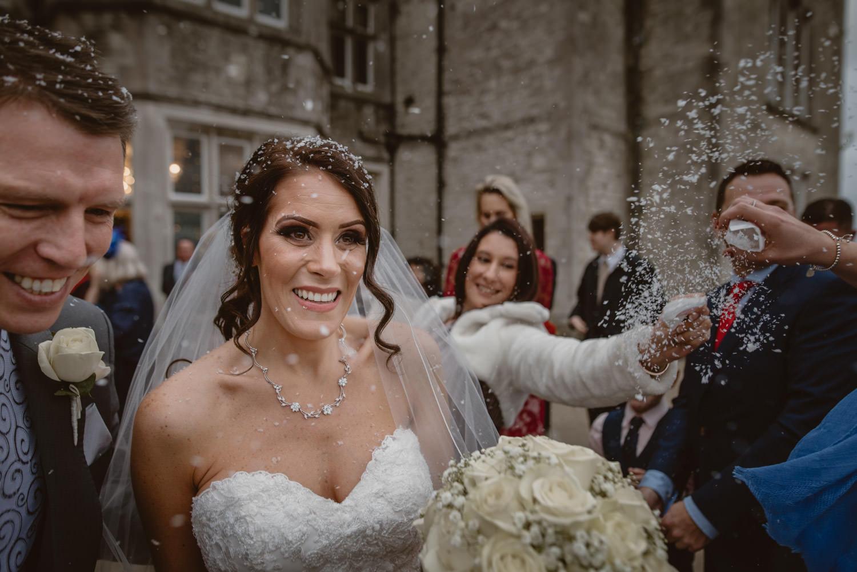 Bride Confetti Wedding Photo