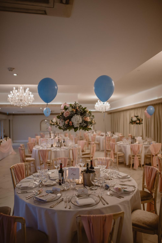 Reception decor in Froyle Park Wedding venue