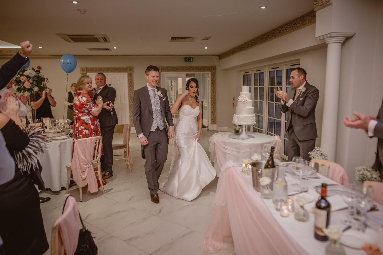 Bride and Groom Wedding Reception Froyle Park