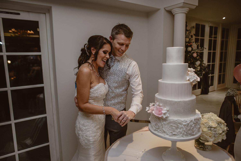 Cut the Cake Wedding Photo