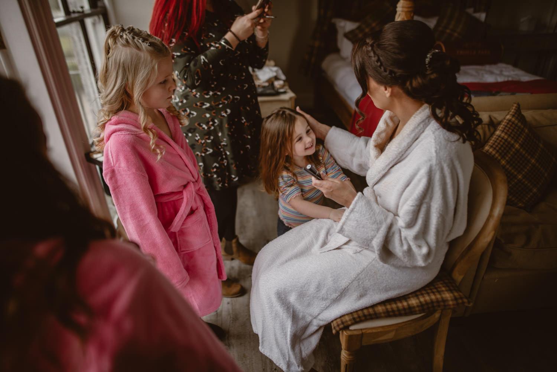 Wedding Getting Ready Family
