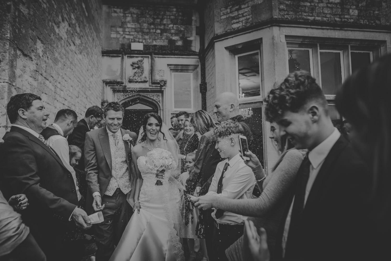 Confetti Wedding Photo