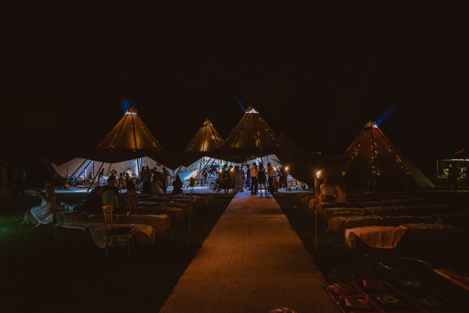 Tipi Wedding at a vineyard Fullerton State The Maze