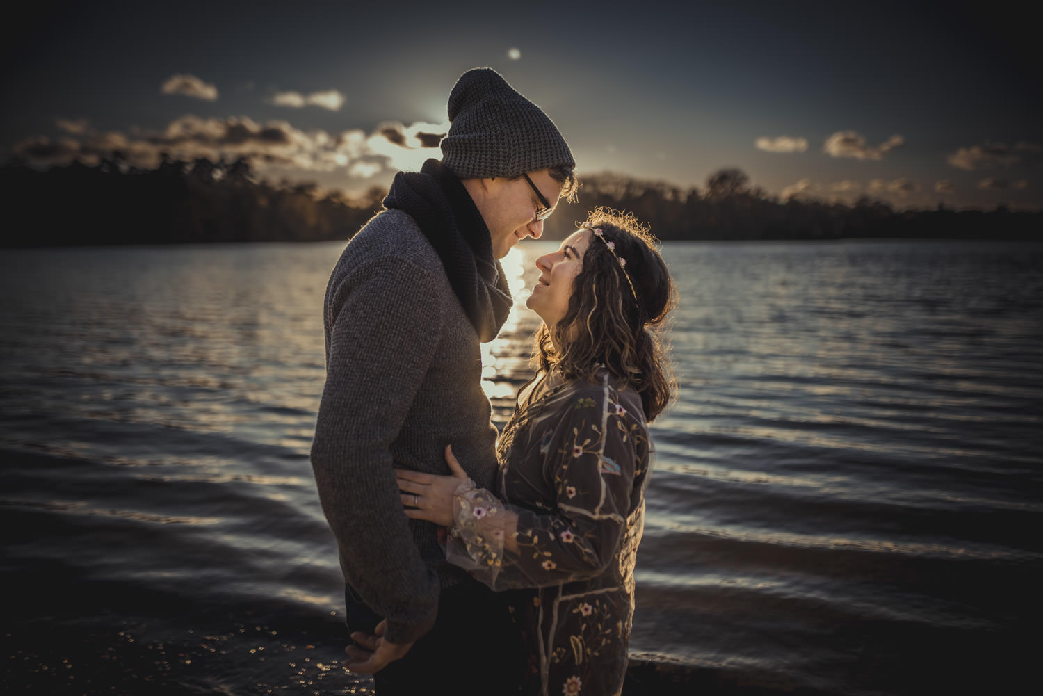 Engagement Photography in Virginia Water Lake