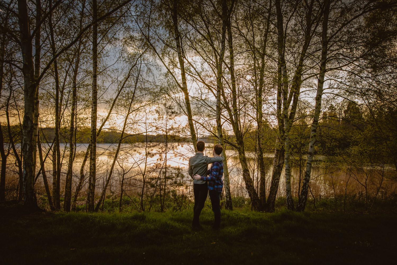 Gay Engagement Photos in Virginia Water Lake