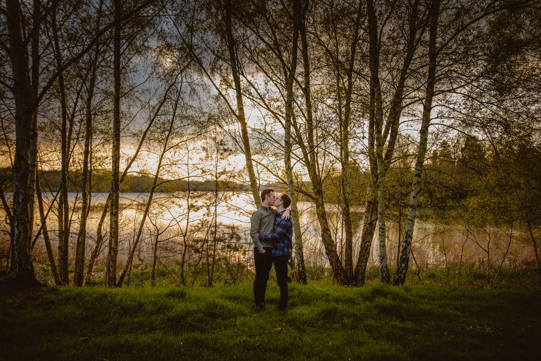 Same-sex engagement photos in Virginia Water Lake