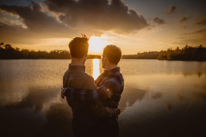 Gay Couple Virginia Water Lake