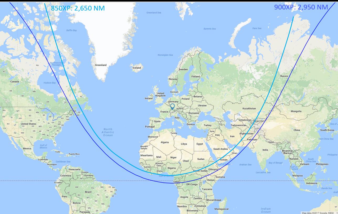H850XP/H950XP Range Map