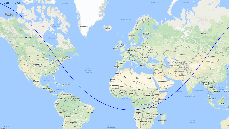 G200 Range Map