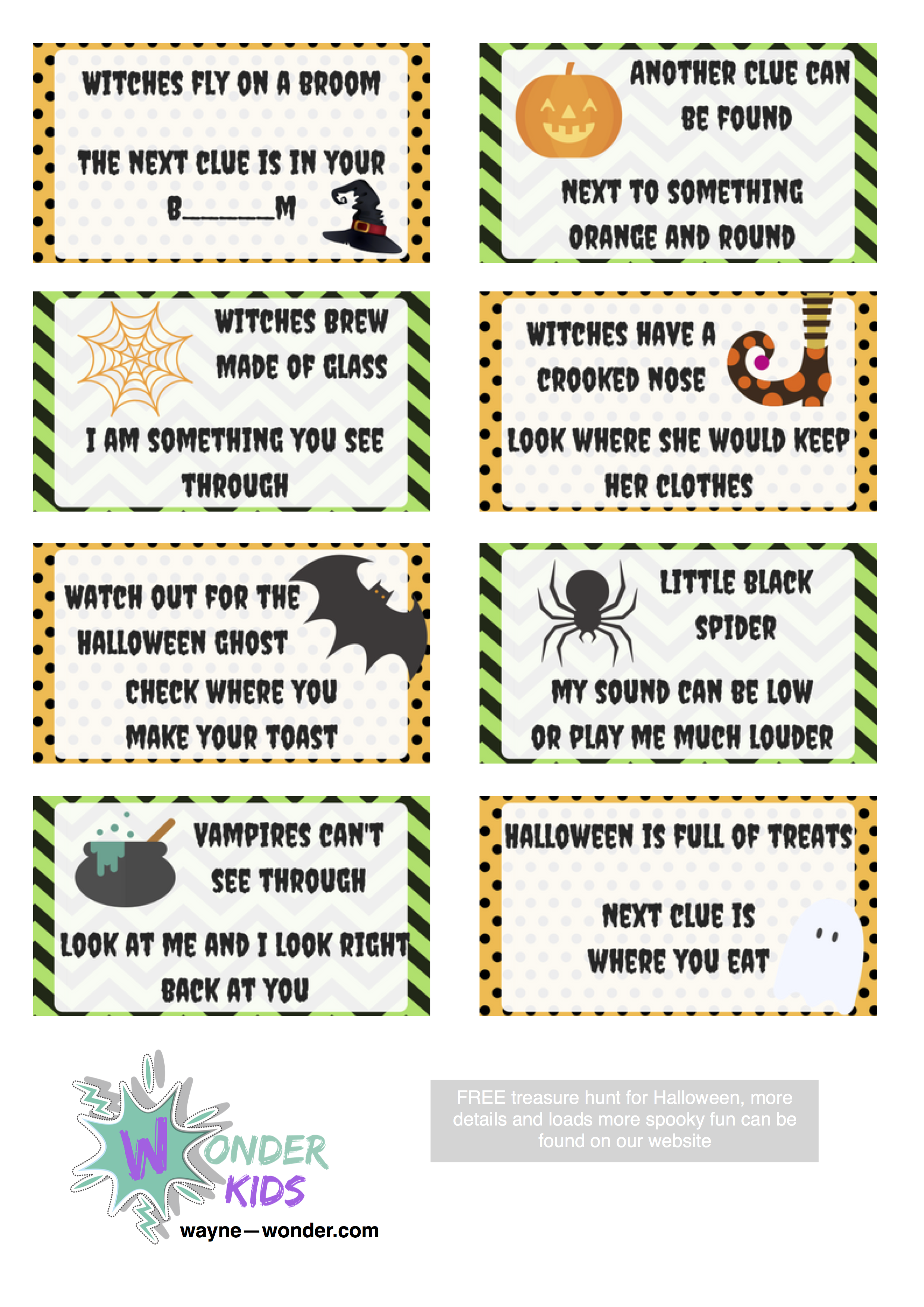 Halloween treasure Hunt from Wonder Kids