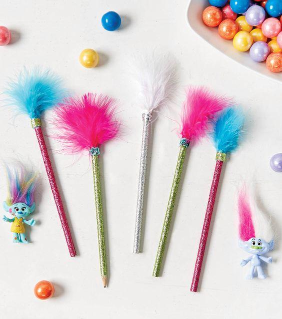 Trolls Glitter pencil's from Wonder Kids