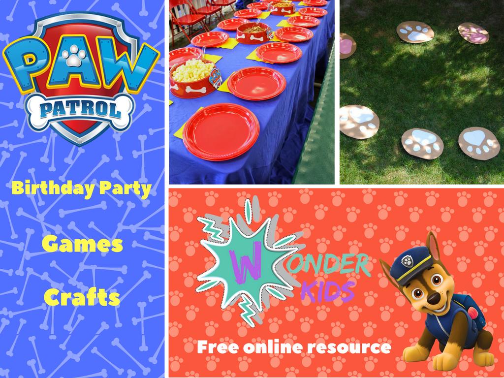 Paw Patrol Party Ideas from Wonder Kids