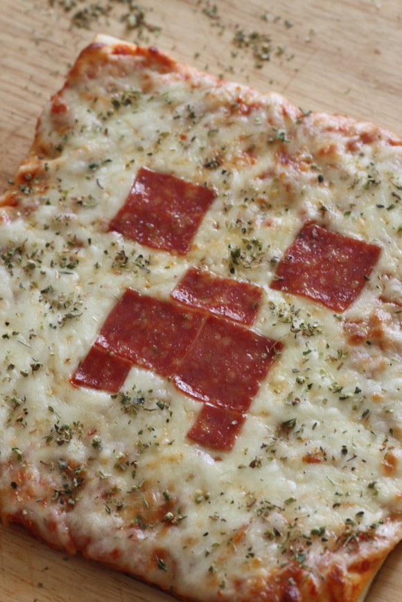 Cooked Minecraft Pizza
