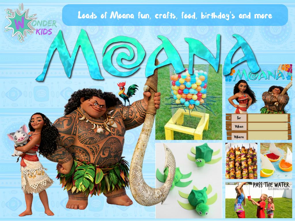 Healthy Moana Snacks from Wonder Kids
