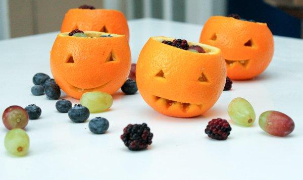 "Jack ""O"" Lantern Fruit Cups"