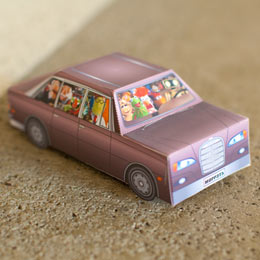 Muppets origami car