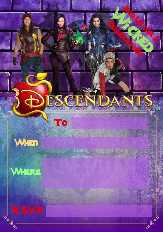 Descendants Party Invite