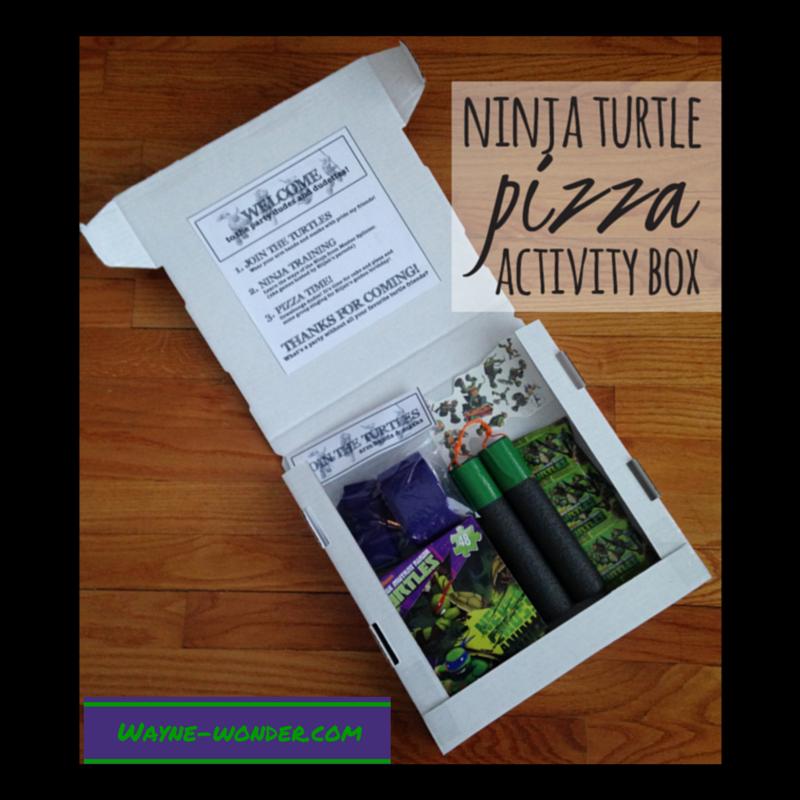 Pizza Box Activity Set from Wonder Kids