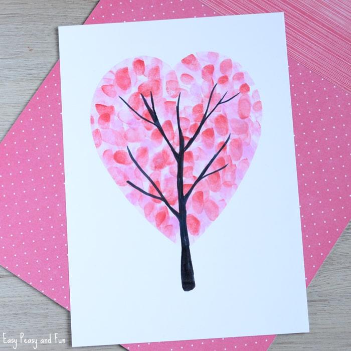 Fingerprint Heart Card
