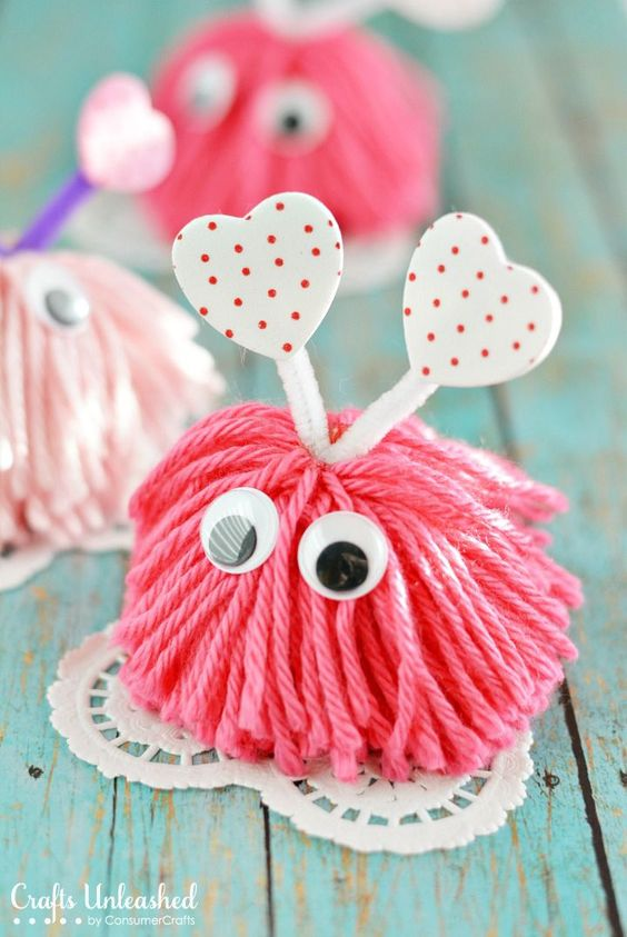 Pom Pom Monster Valentines