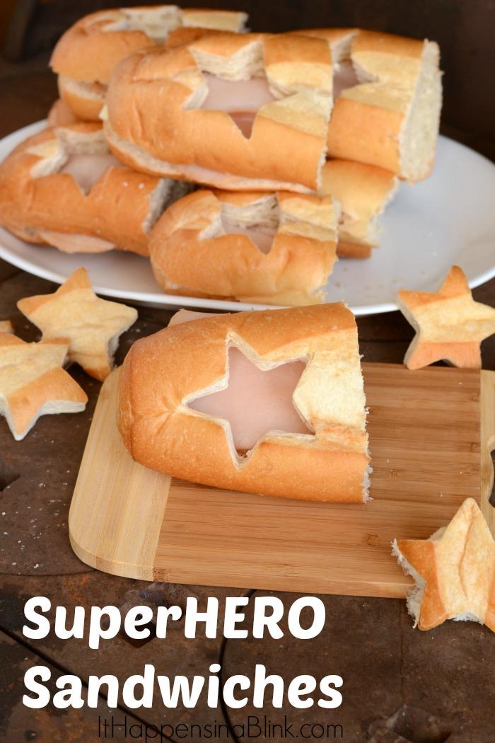 Super Hero Sandwiches
