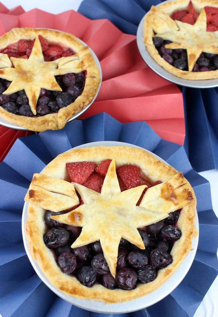 Captain Marvel Berry Pies