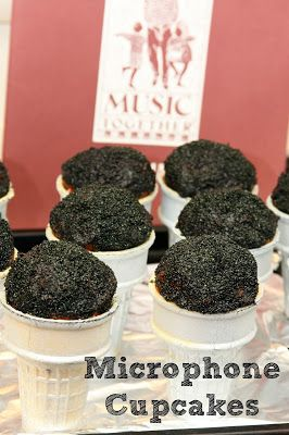 Microphone Cupcakes from Wonder Kids