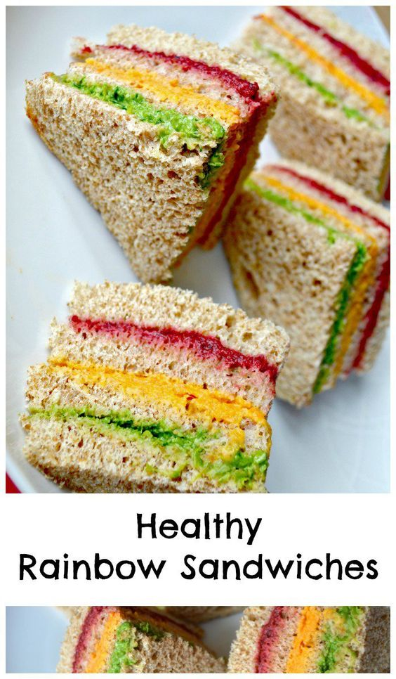 Healthy rainbow Sandwiches