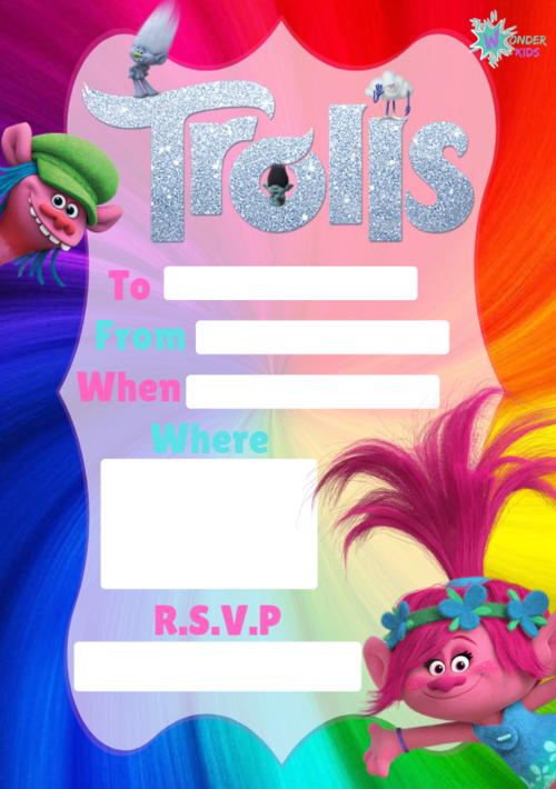 party invitations wonder kids